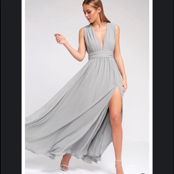 729e2eae61 Lulu's light grey formal dress
